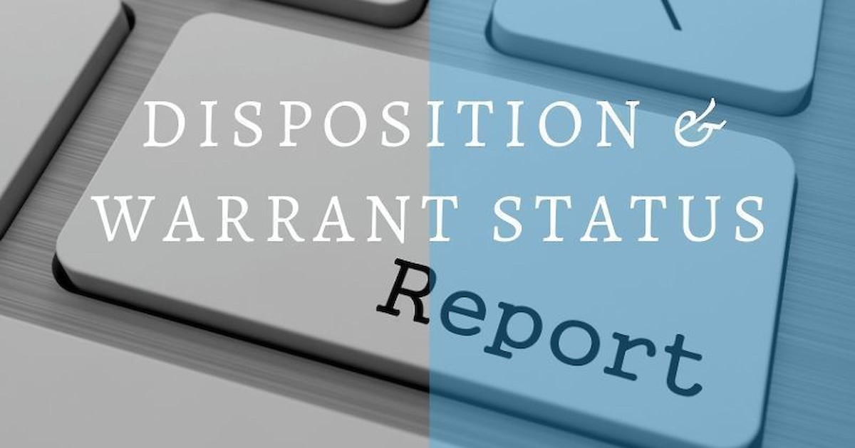 Weekly Disposition & Warrant Status Reports | Recent News