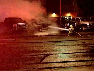 Fire Extinguished Overnight in Rice Lake Car Dealership Parking Lot Article Image