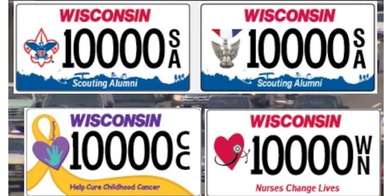 WisDOT Issues Three New Specialty License Plates this Spring